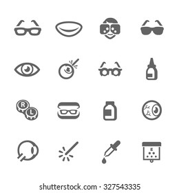 Simple Set Optometry Related Vector Icons for Your Design.