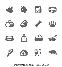 Simple Set of Pets Related Vector Icons for Your Design.