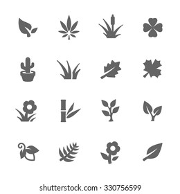 Simple Set of Plants Related Vector Icons for Your Design.