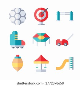 Simple Set Playground Vector Color Icons