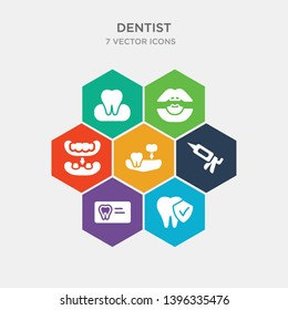 simple set of prophylaxis, radiograph, sealants, partial denture icons, contains such as icons overdenture, oral, occlusal and more. 64x64 pixel perfect. infographics vector