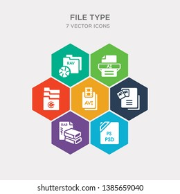 simple set of psd, rar, tiff, avi icons, contains such as icons c4d, ai, raw and more. 64x64 pixel perfect. infographics vector