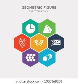 simple set of row, tile, sent, polygonal wings icons, contains such as icons polygonal wolf head, prism, radius and more. 64x64 pixel perfect. infographics vector