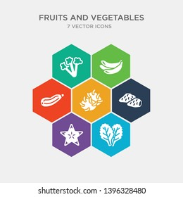 simple set of spinach, star fruit, sweet potato, tuber icons, contains such as icons zucchini, banana, cauliflower and more. 64x64 pixel perfect. infographics vector