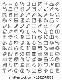 Simple Set of Stationery Related Vector Line Icons.