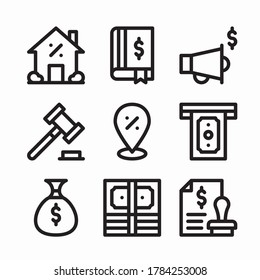 Simple Set Taxes Vector line Icons