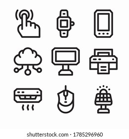 Simple Set Technology Vector line Icons