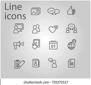 Simple Set of Testimonials Related Vector Line Icons. Contains such Icons as Customer Relationship Management, Feedback, Review, Emotion symbols and more. - stock vector
