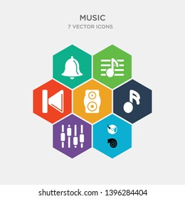 simple set of vynil, music control settings button, musical sixteenth note, subwoofer speaker icons, contains such as icons previous track button, sheet music, alarming bell and more. 64x64 pixel