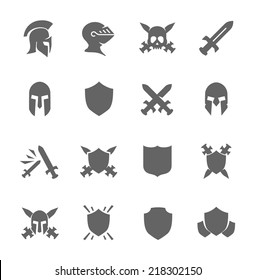 Simple Set of War Related Vector Icons for Your Design.