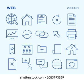 Simple Set of Web. Vector Line Icons. Editable Stroke. Pixel Perfect.