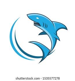 SIMPLE SHARK CLIPART VECTOR DESIGN