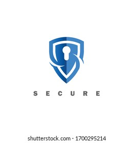 Simple Shield concept logo icon vector design