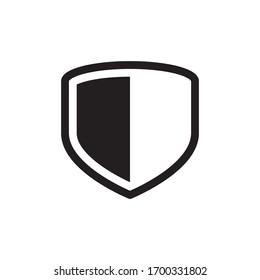 Simple Shield Icon In Trendy  Design Vector Eps 10