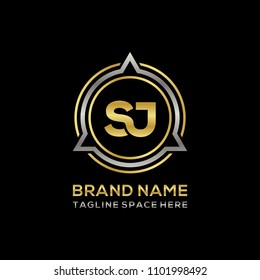 Simple SJ initial Logo design template vector illustration