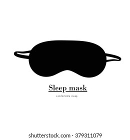 Simple Sleep mask/ Black sleep mask  on a white background