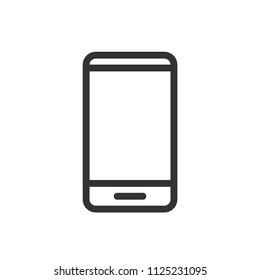 simple smarphone icon with line style use for ui ux button interface web application, startup, website, editable stroke
