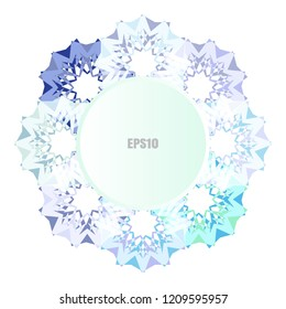 Simple snowflake or mandala icon isolated on white background. Snow flake element for Christmas winter design and New Year decoration. Refrigerator vector symbols or logo