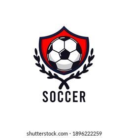 Simple soccer football logo design template