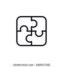 Simple solution line icon. Stroke pictogram. Vector illustration isolated on a white background. Premium quality symbol. Vector sign for mobile app and web sites.