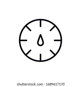 Simple speedometer line icon. Stroke pictogram. Vector illustration isolated on a white background. Premium quality symbol. Vector sign for mobile app and web sites.