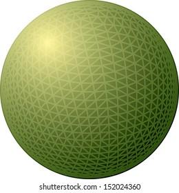 Simple sphere vector illustration.