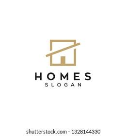 simple square homes logo