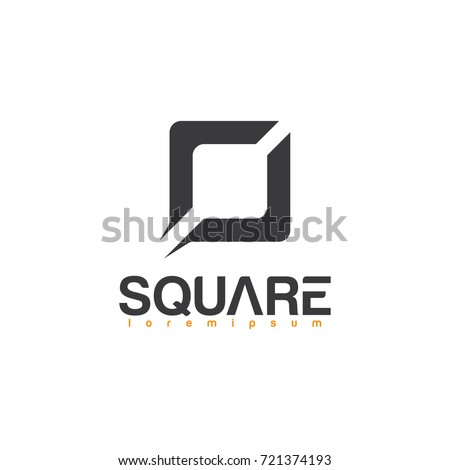 simple square logo square logo icon のベクター画像素材