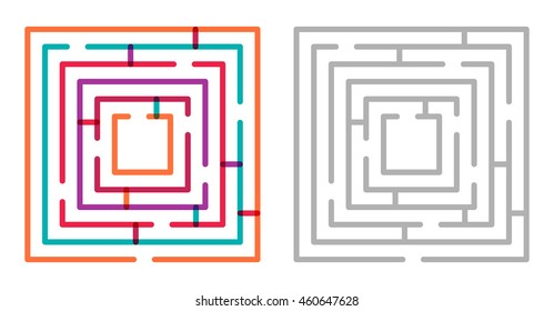 Simple Maze Images, Stock Photos & Vectors | Shutterstock