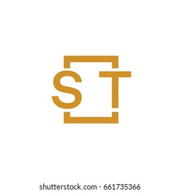 Simple ST initial Logo designs template vector illustration