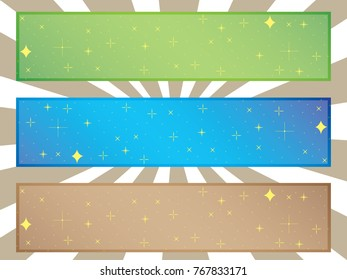 Simple star banners in different colors