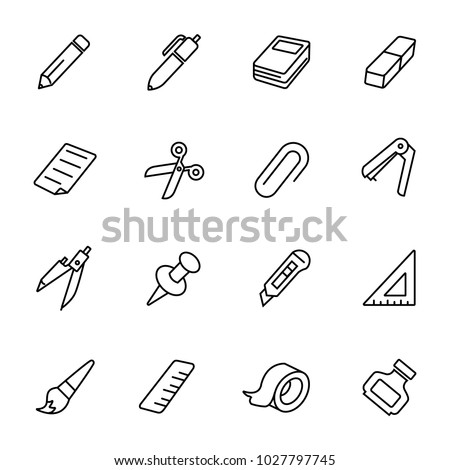 simple stationary icon stock vector royalty free 1027797745