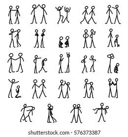 Simple stick figures