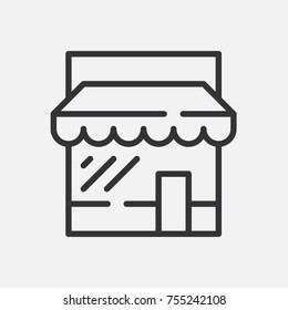 Simple store icon