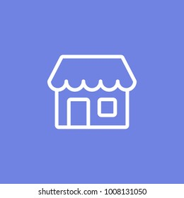 Simple Store or shop line icon