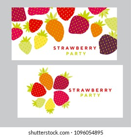 Simple strawberry design element for header, card, invitation, poster, cover and other web and print design projects. stock vector illustration