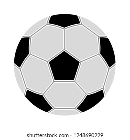 Simple style football / soccer ball isolated on white background - soccer football icon