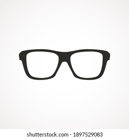 Simple sun glasses icon isolated on white background. Vector Illustration