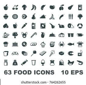 simple symbols of a foodstuff. Vector illustration