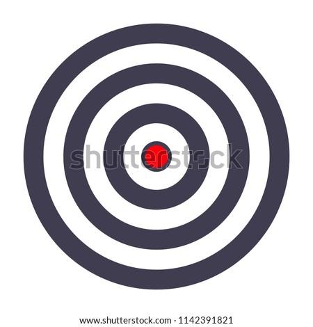 simple target template bullseye symbol stock vector royalty free
