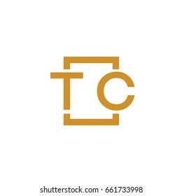 Simple TC initial Logo designs template vector illustration