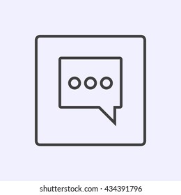Simple Thin Chat Icon