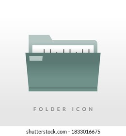 simple three-dimensional gradient folder icon