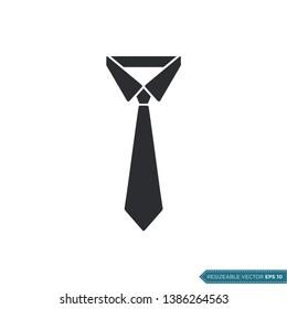 Simple Tie Icon Vector Template Flat Design