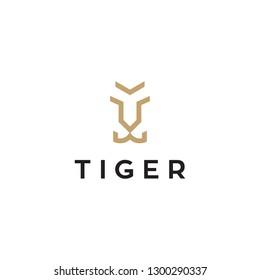 simple tiger face logo design