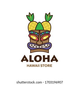 Simple Tiki Head pineapple For Store Industry