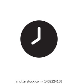 Simple time flat icon design vector