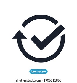 Simple Time icon template color editable. Time Inspection symbol vector sign isolated on white background for graphic and web design.