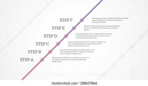Simple Timeline Stock Vectors, Images & Vector Art