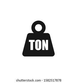 Simple TON weight silhouette icon, isolated
